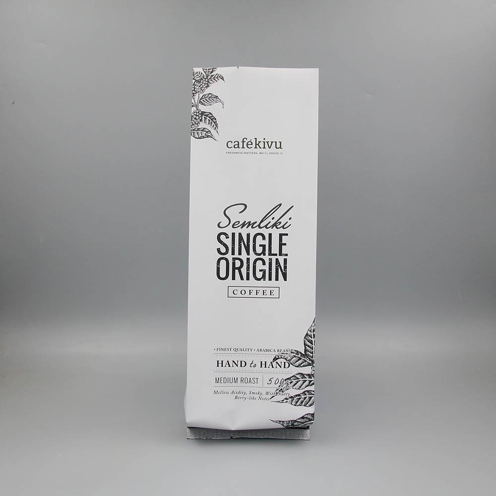 四边咖啡豆背封袋